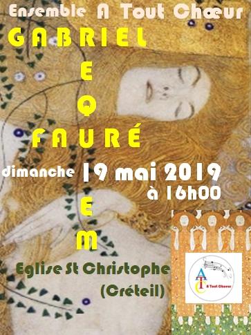 Concert du 19 mai 2019 – Eglise Saint Christophe (Créteil)